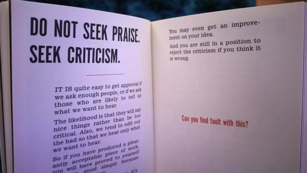 seek criticism