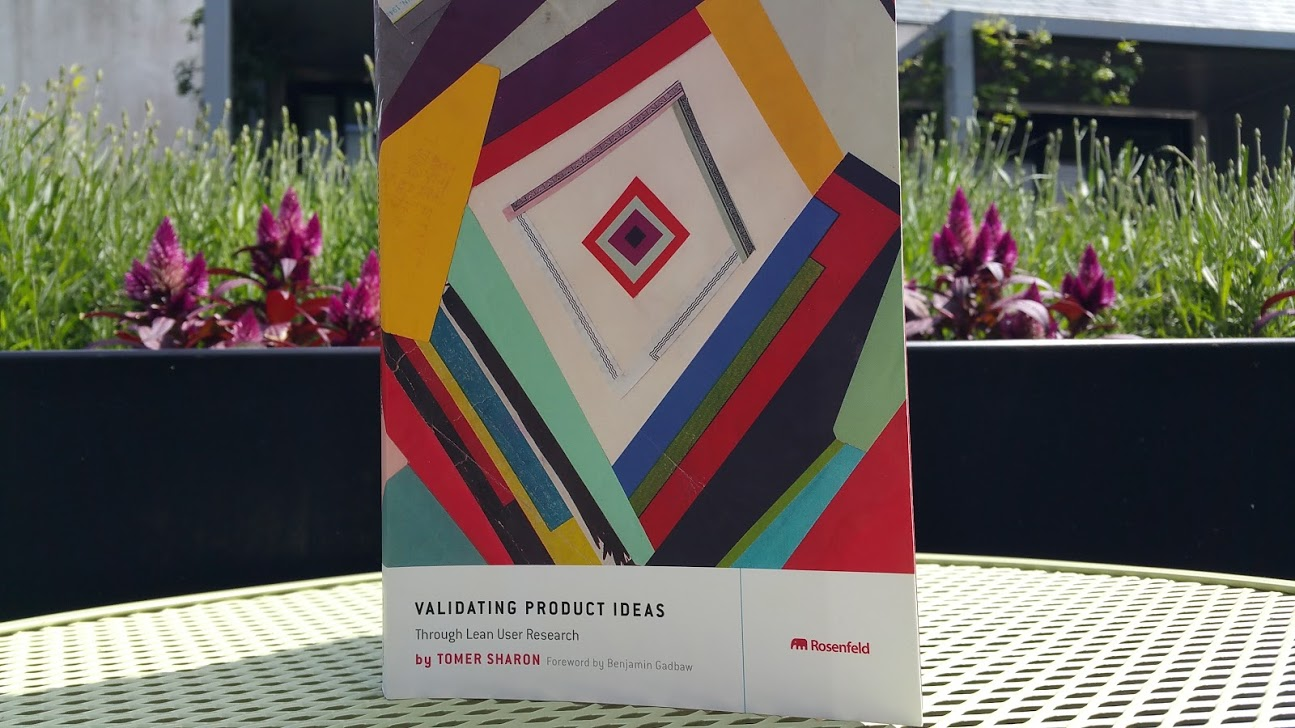 Validating product ideas book